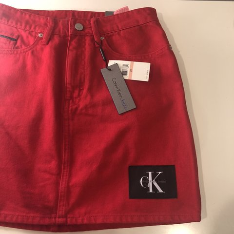 3146e58c23 @baby_laur. 11 months ago. Philadelphia, United States. BRAND NEW WITH TAGS Calvin  Klein jean skirt!!