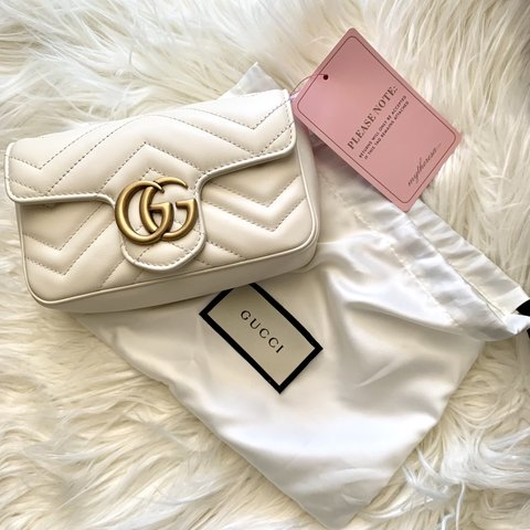 61a2e8d25d85 @ostentatiousstyle. last month. Greece. Brand new with tags Gucci Marmont  Super Mini Bag ...