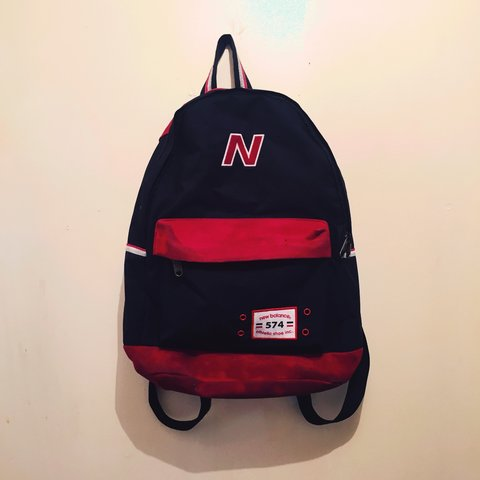269df7b122fa3 Dark navy New Balance 574 rucksack 🎒 Used a couple of but a - Depop