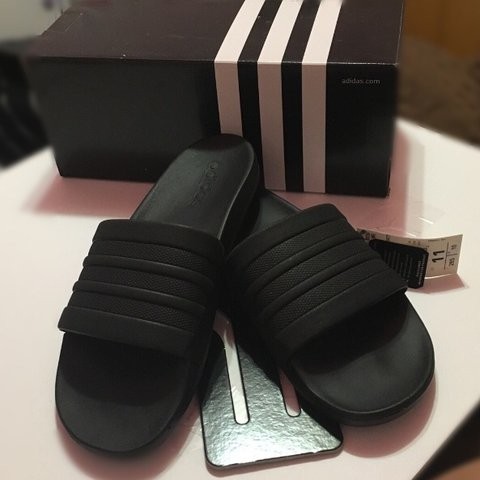 a4ecf0e70 Adidas run big ) All black never worn (only tried on) - Depop