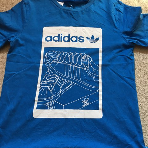 c45f9320c @wxdders16. 9 months ago. Northampton, United Kingdom. Blue adidas  originals graphic T-Shirt ...