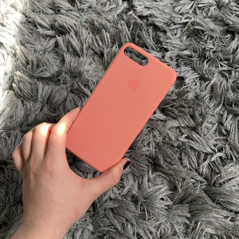 PEACH IPHONE 7/8 PLUS FAKE APPLE CASE - Never    - Depop