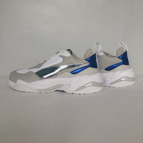 c8a8bedd916 PUMA THUNDER ELECTRIC IN WHITE & BLUE • BRAND NEW NEVER - - - Depop