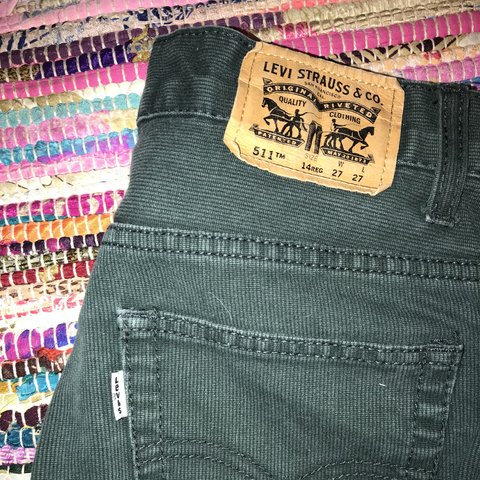 e38a7766e81ee0 @tayylorann. 9 months ago. Dawsonville, United States. Kids Dark Green  Ribbed (Corduroy?) 511 Levi's Jeans