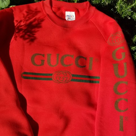 3bab72c0162 Vintage Authentic 80s BOOTLEG Gucci Sweater New Old Stock i - Depop