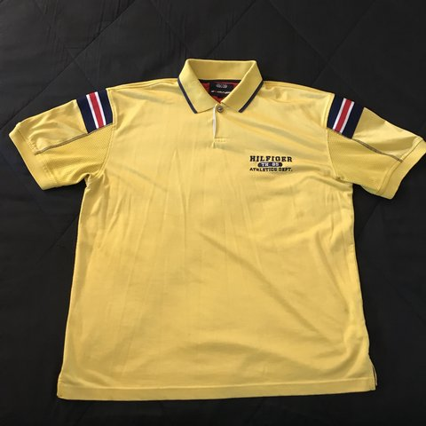 598709c9 Vintage Tommy Hilfiger Athletics polo shirt - Size L men's - Depop