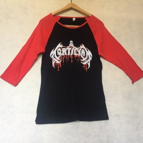 RED BLACK MORTICIAN BASEBALL TEE BAND MERCH SIZE XL FREE On