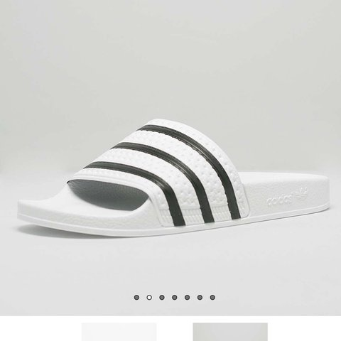 afe60550d WOMENS ADIDAS ORIGINALS ADILETTE SLIDES WHITE BLACK 5