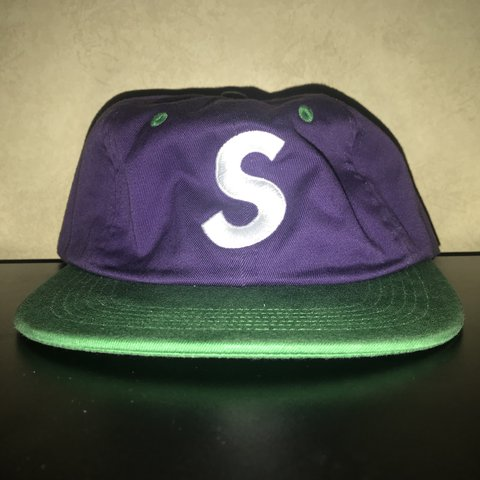 a64ef1d35e8 Supreme S Logo Two Tone Cap Year  2016 The S Logo Cap has a - Depop