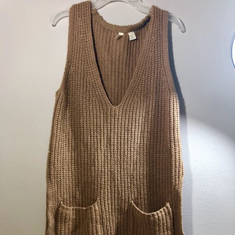 1edad937665e @thriftdecors. 9 months ago. Shaker Heights, United States. Women's  Anthropologie Moth Tan Sleeveless Sweater Size XS Preowned