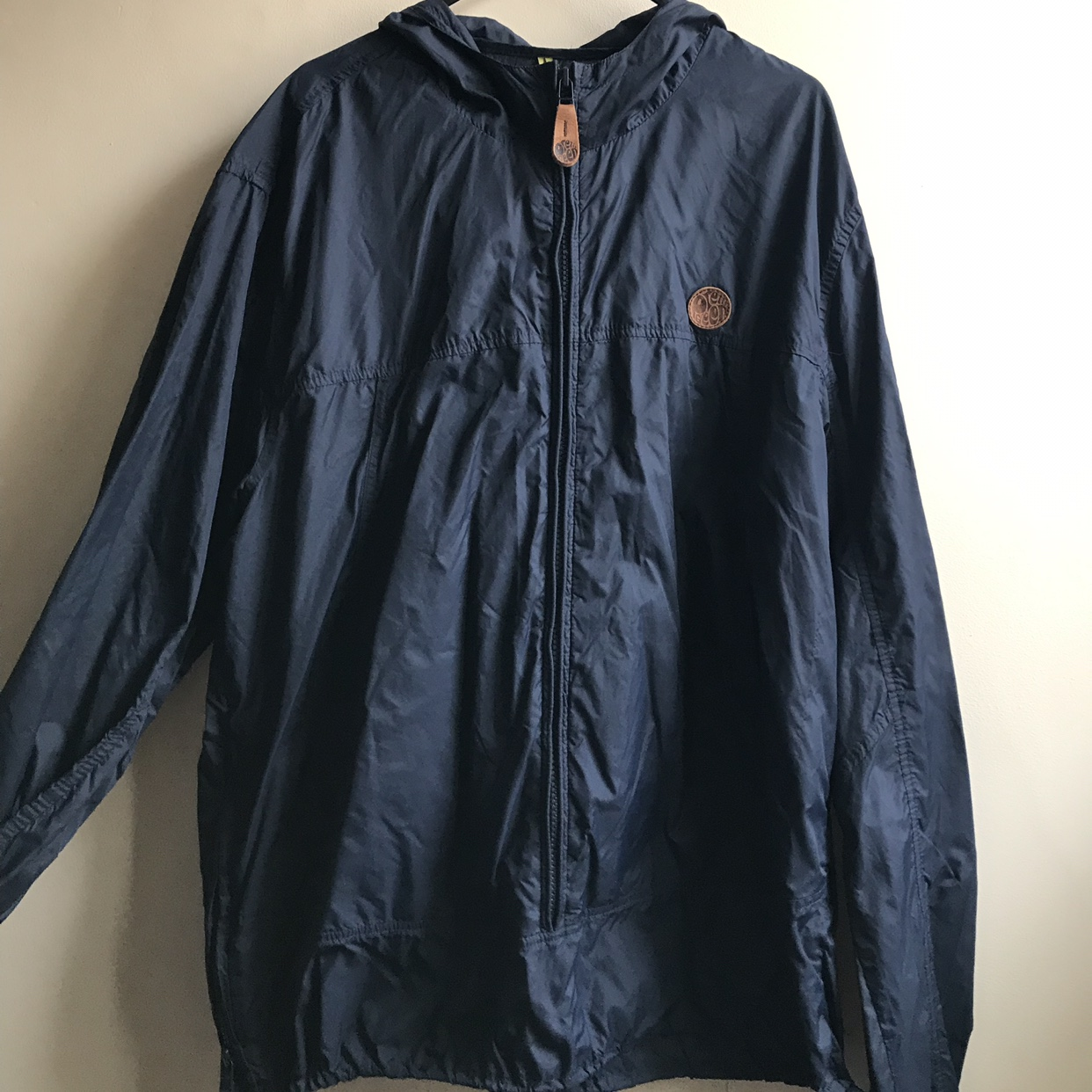 search for best competitive price boy Navy blue Pretty Green rain mac. Good condition... - Depop