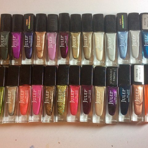24 julep nail polishes! all have been used, some have been - Depop
