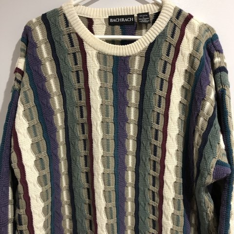7a39e2bf92667a Vintage 90s Tundra Multi Color Striped Sweater. In great and - Depop