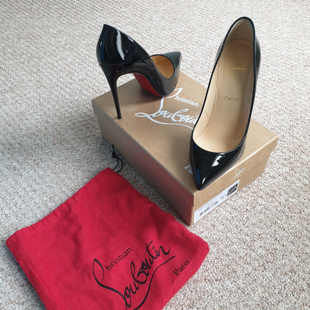best loved 31374 f3508 CHRISTIAN LOUBOUTIN Pigalle Follies 100 Patent... - Depop