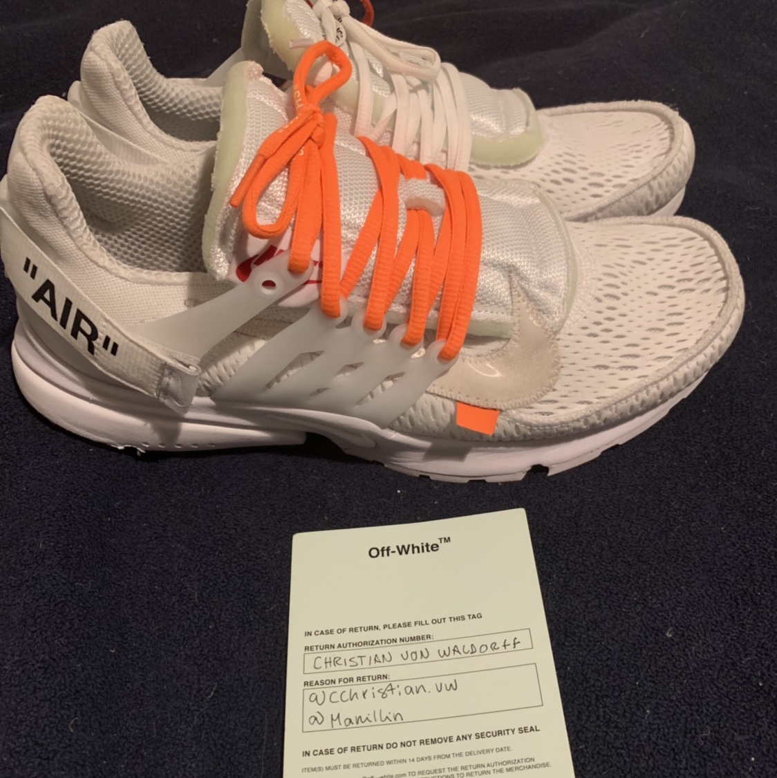 Nike Air Presto X Off White Size 10 Cond. (910) Depop
