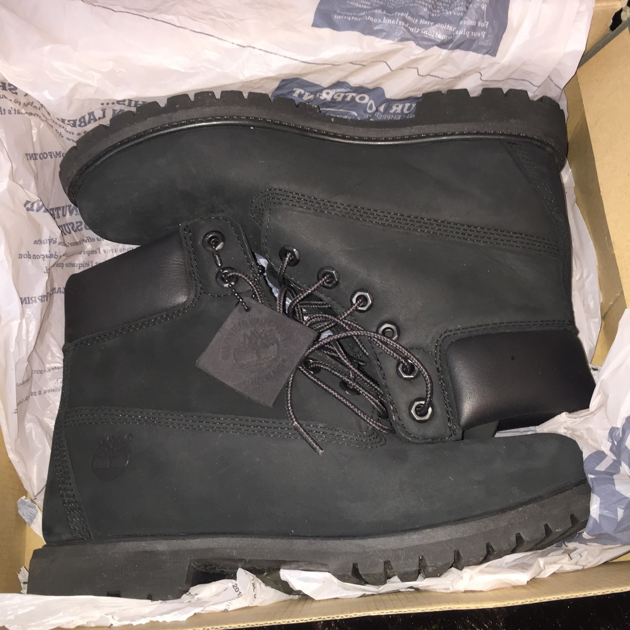 BLACK TIMBERLAND BOOTS GOOD AS NEW WORN ONCE BUT Depop