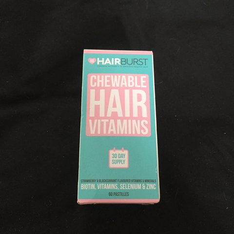 884bb6931fcce Hairburst chewable vitamins. 60 pastilles strawberry and NEW - Depop
