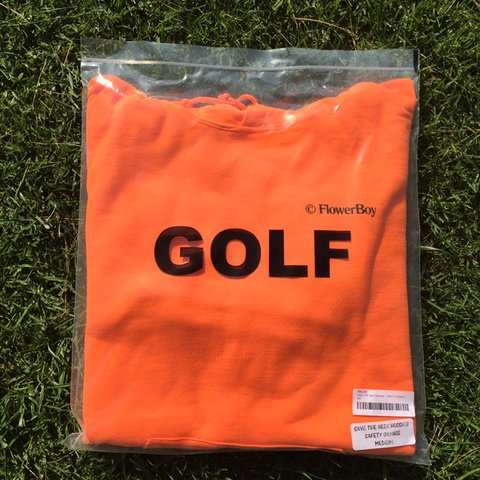 4f73348042c8 Golf Wang Save the bees safety orange hoodie. Brand new been - Depop