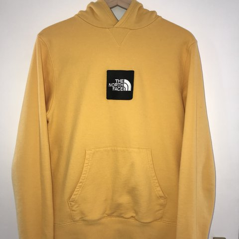 ... The North Face Yellow Fine Hoodie 🔥 Size Small - Depop famous brand  32f31 35235 ... 24fc4f0a9