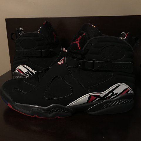"4aa4907f02d4bf Air Jordan 8 ""playoff"" size 13 authentic . Still in good me - Depop"