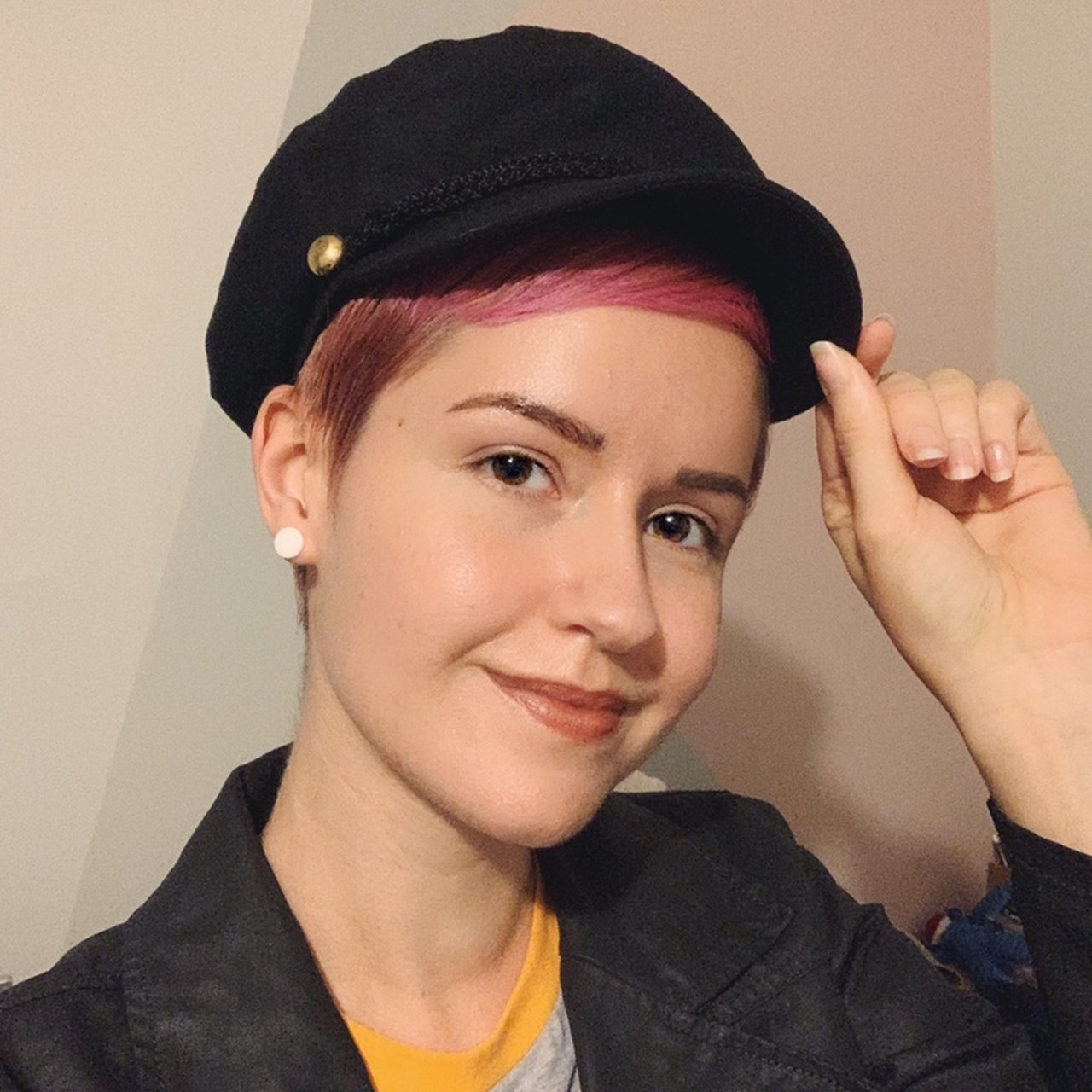 Adorable baker boy hat I bought from Target ✨ I love the I - Depop 327d1b33728