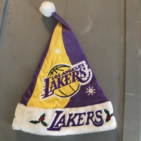 3003e38eb0 Los Angeles Lakers Santa Hat NBA Official One size fits - Depop