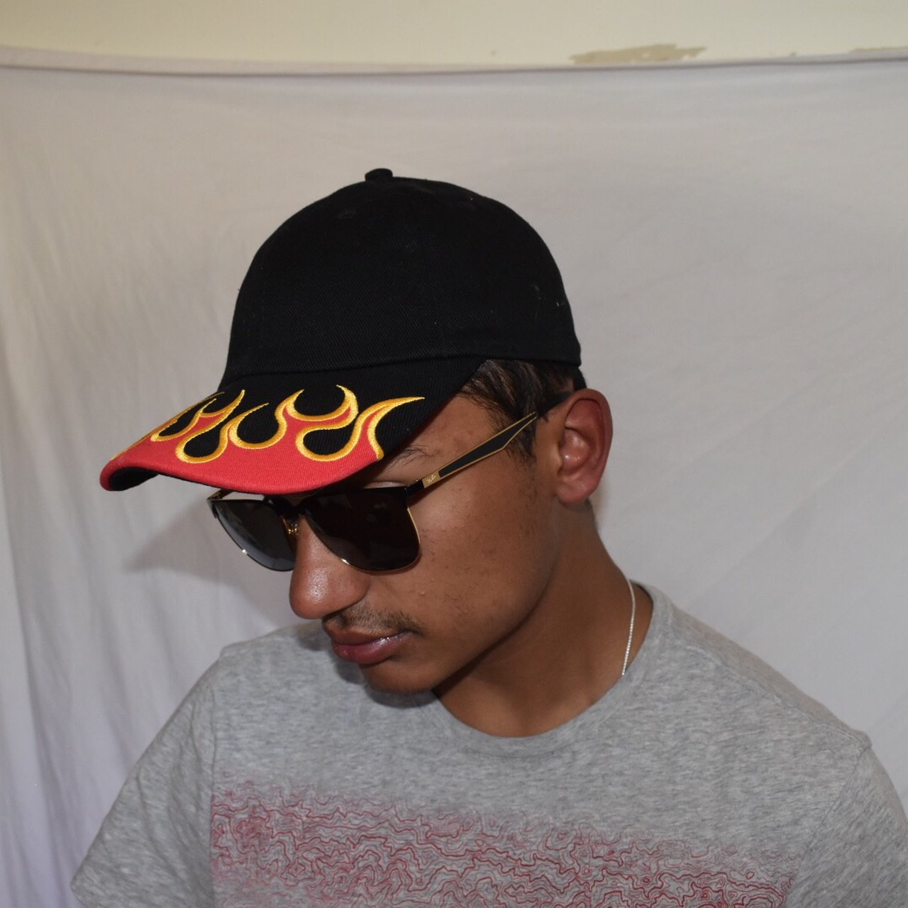SOLD OUT FLAME EMBROIDERED BASEBALL HAT.URBAN OUTFITTERS. OR - Depop 6fd4cbf436c4