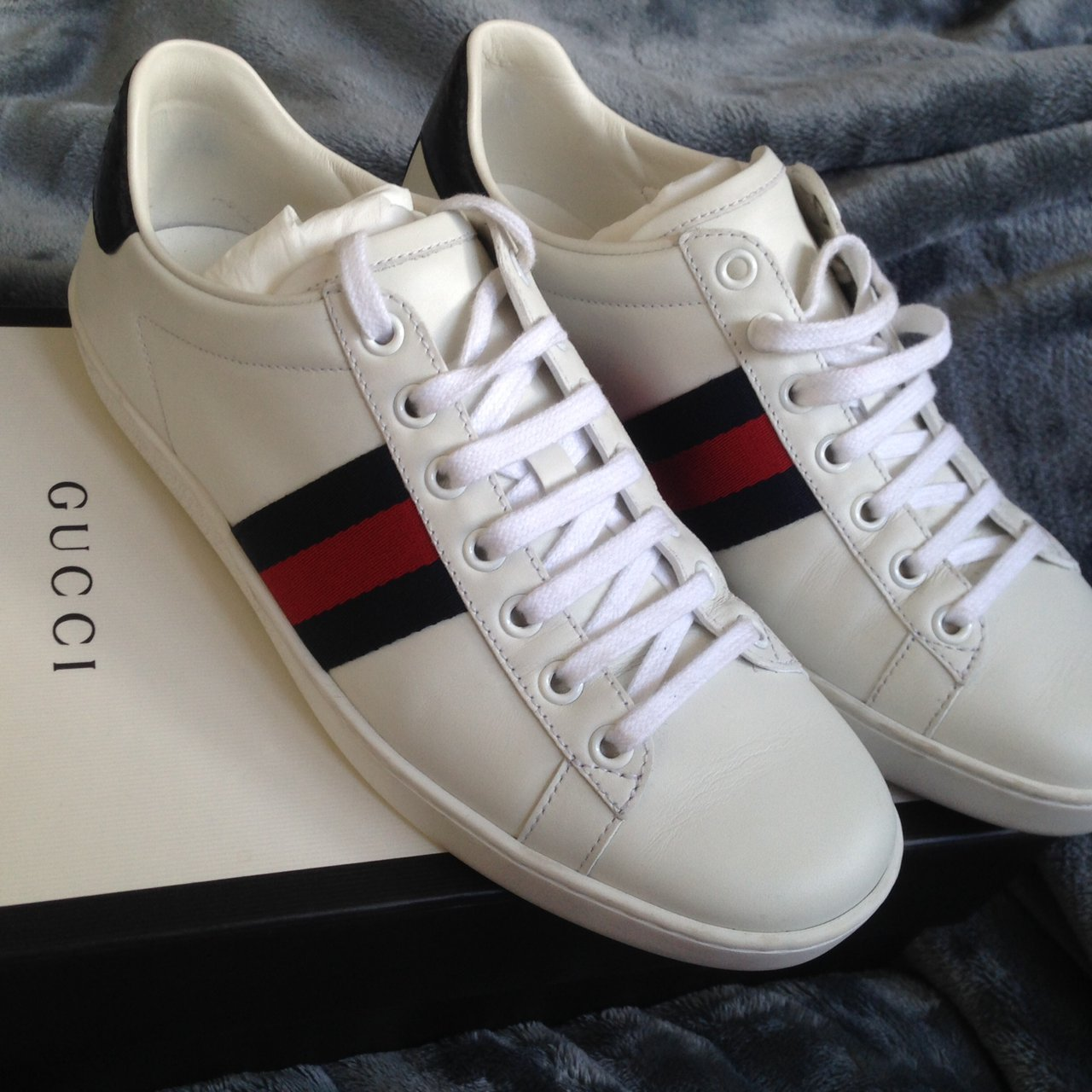 faf4a78df523 Authentic Gucci Ace sneakers in white