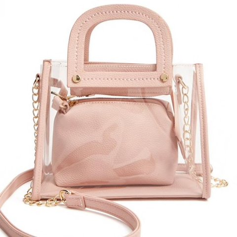 27604d8405 Super cute little clear and blush shoulder bag. Brand new - Depop