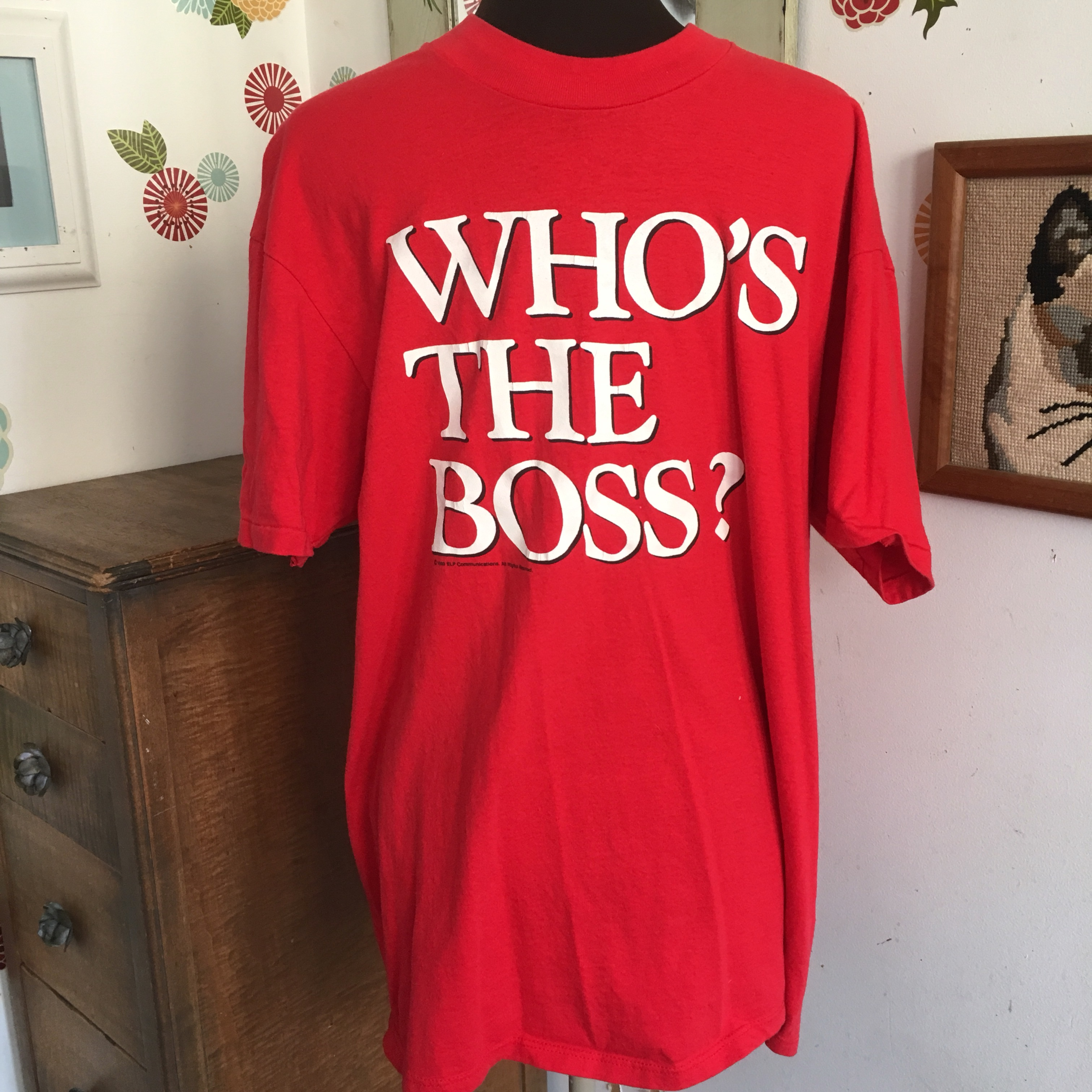 FREE US SHIP! Vintage Who's The Boss T-Shirt