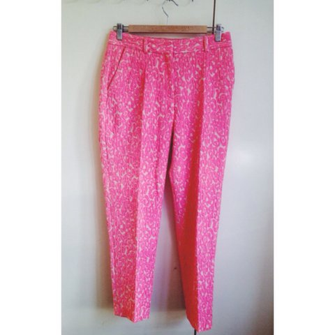 2358374891e3 @abibarras. 4 years ago. London, United Kingdom. Whistles bright pink leopard  print trousers.