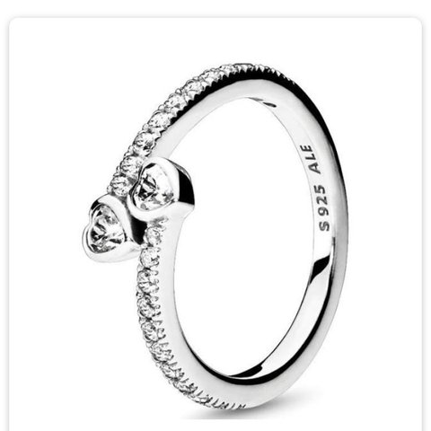 2c03f2278 @evefraserxx. 21 days ago. United Kingdom. Pandora 'forever hearts'  sterling silver ring.