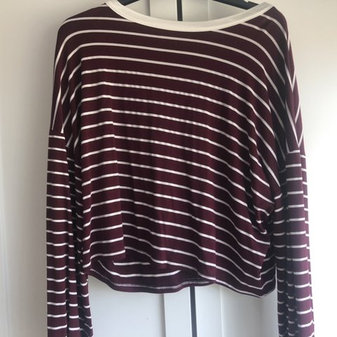 330134fbf28a7 Burgundy Missguided striped top. In great condition