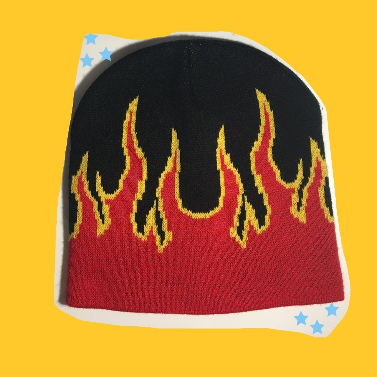 ⭐ flame beanie ⭐ not sure what the brand is but this hat - Depop 24a6c69cd4d3