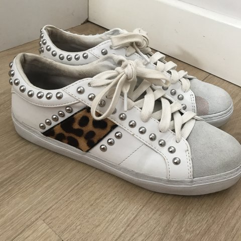 87245a4a9dc9 @lucekate123. 11 months ago. Liverpool, United Kingdom. Zara white and leopard  print studded ...