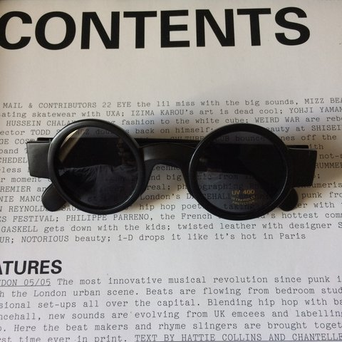 fc4186c884f71 Vintage Sunglasses Black Round UV400 -1x Glasses left - - - Depop