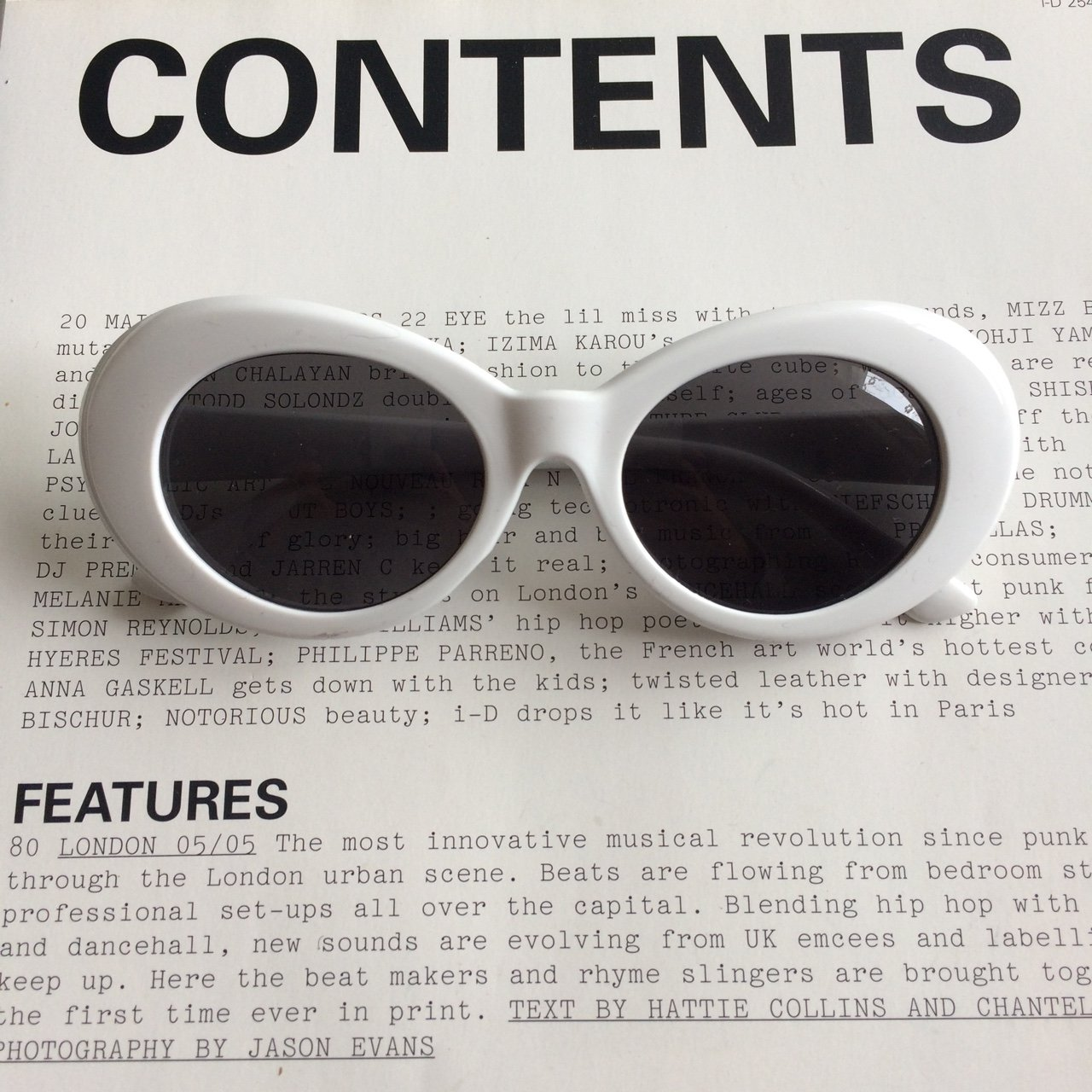 d476df970f2 White clout Google s -2x Glasses left - Limited amount of - Depop