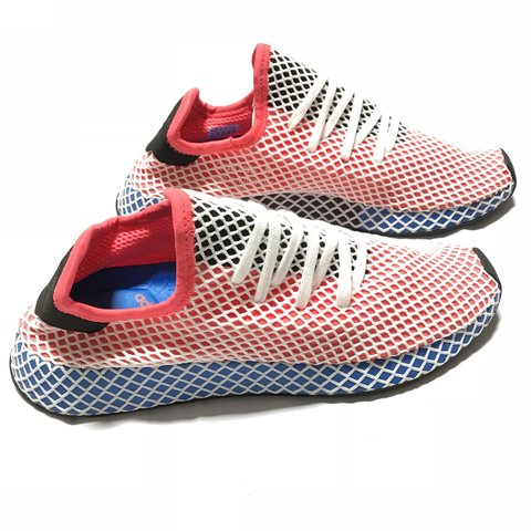 8b9bd3354868c Adidas Deerupt Runner in the Original Solar Red Blue men s - Depop
