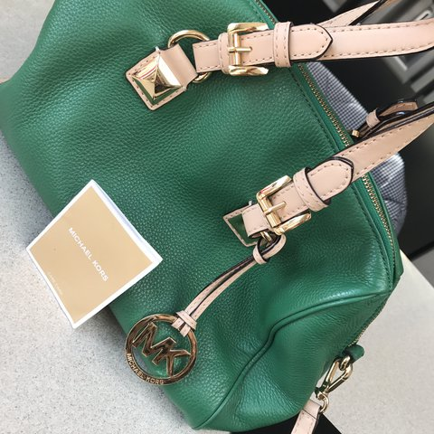 b4f36b451f5f Michael kors bag  authentic  green. This seasons color. - Depop