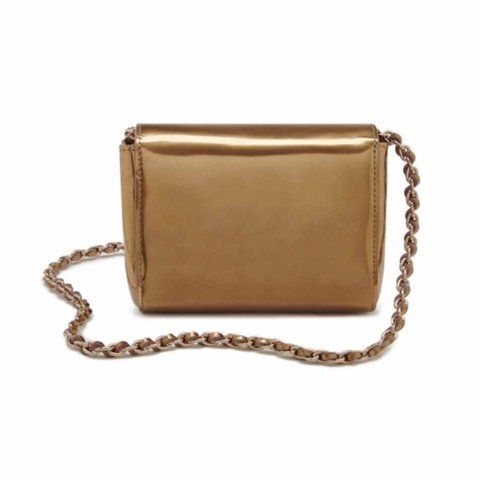 d466c6fb41d  afshanazad. 2 years ago. Manchester, UK. Mulberry mini Lily cross body bag.  Gold mirror metallic leather.