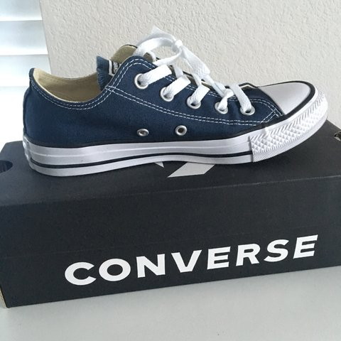 Navy Blue Converse low top chuck taylor brand new in size - Depop bc17e3ae7