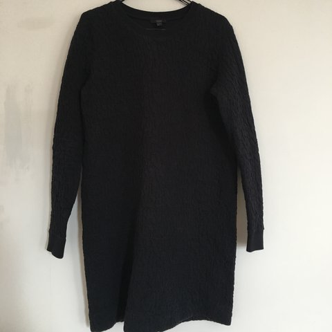 29ce352678f9 @izzycannon. last year. Brighton, UK. COS Navy Raised Texture Sweatshirt  Dress ...