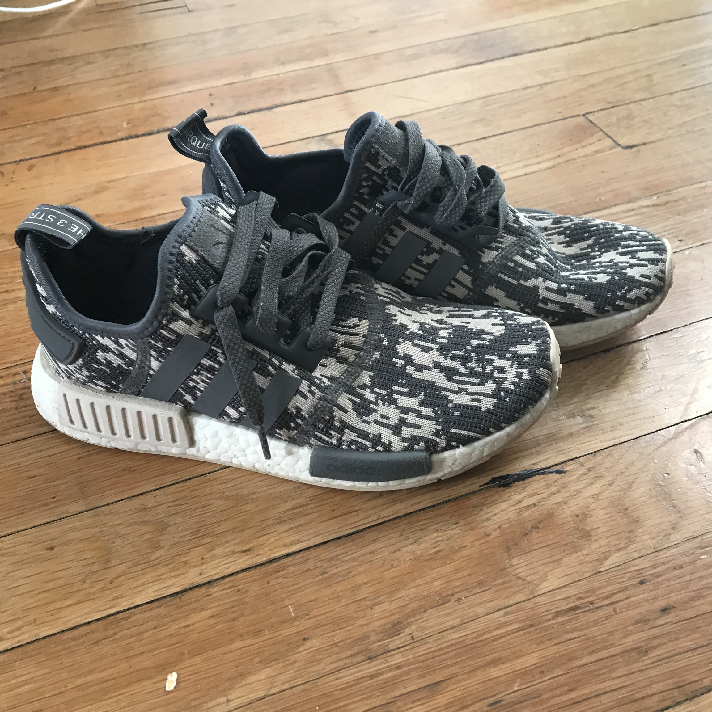 more photos 411f9 d74ca Adidas nmds 7/10 worn Good running shoes and just... - Depop