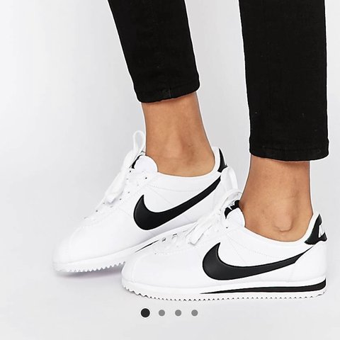 ee0f53eb9f Nike Cortez black and white women's but they're unisex! and - Depop