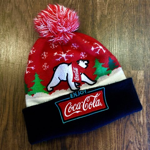 c4ff4b8a825 🔥Coca-Cola Polar Bear beanie! Dope knit cap for the fall of - Depop