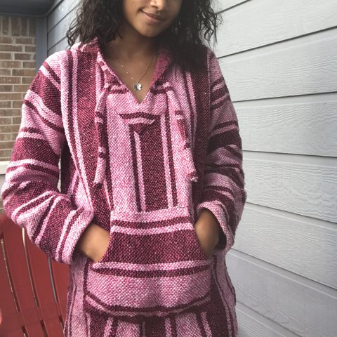 Pink Pancho Hoodie Ive Heard Them Called Drug Rugs Haha Depop