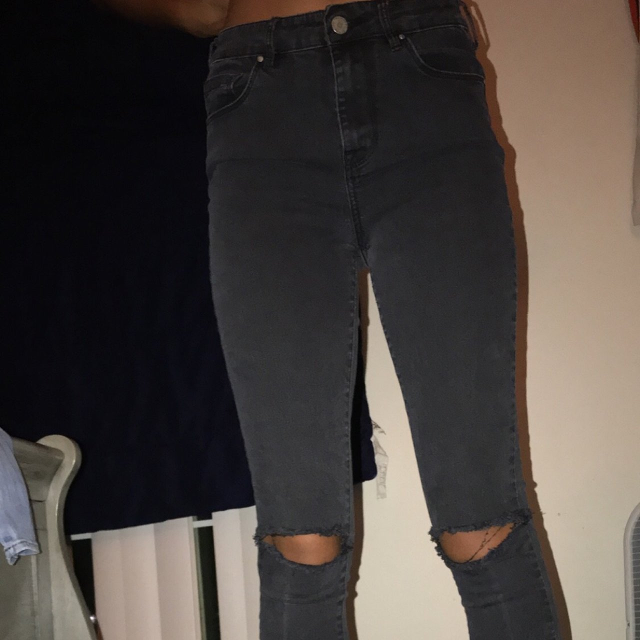 Faded black jeans with knee holes from pacsun!! Size 27 - Depop 2e5de3dd9a51