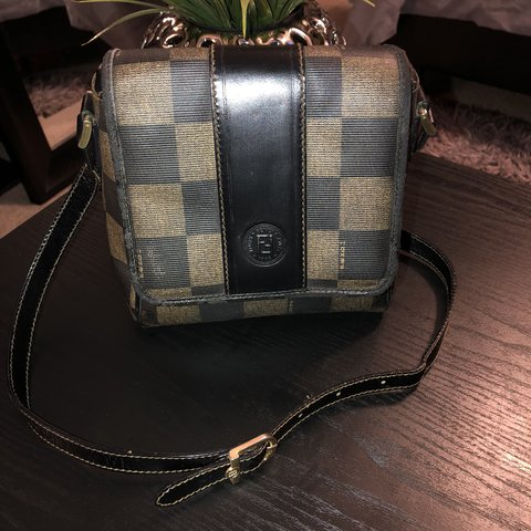6ae74b729b0 @ashdupre. last year. Phoenix, United States. adorable vintage Fendi  checkered coated canvas ...