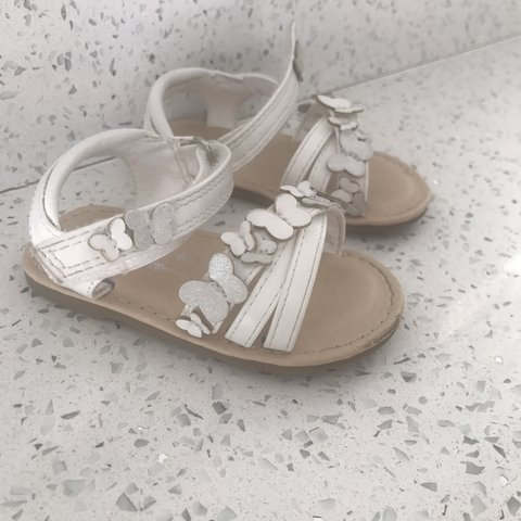 Next size 4 toddler baby sandals  shoes summer white