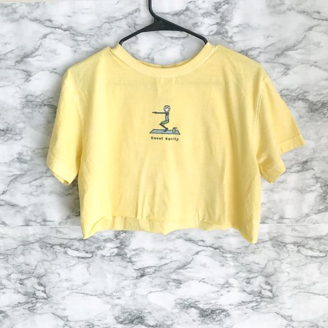"""5ca7bcd23e3 FOR SALE """"Life is good"""" pale yellow summer tshirt!💫💕 The - Depop"""